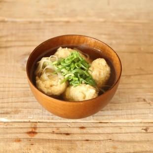 鶏つみれとごぼうのスープ