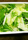 レタスと水菜のやみつきサラダ
