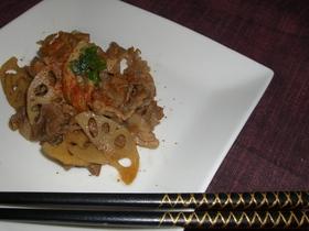 豚肉とレンコン炒め☆