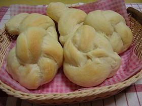 中力粉で結びフラワーパン