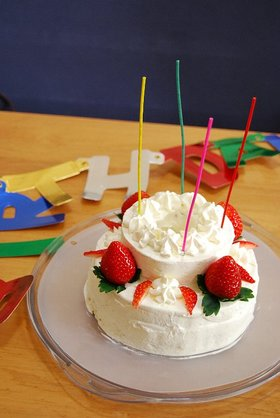 2階建てケーキ。