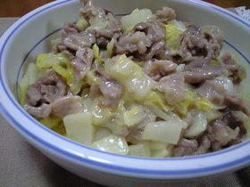 白菜と豚肉のクリーム炒め