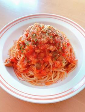 サバ水煮缶とトマト缶で♥簡単スパゲッティ