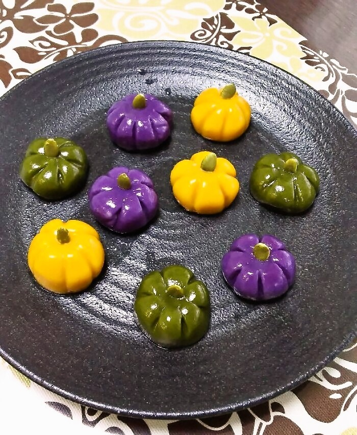 三色かぼちゃ白玉♪
