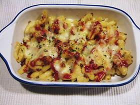 マカロニサラダのチーズ焼き