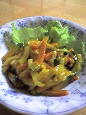 かぼちゃのカレー風味サラダ