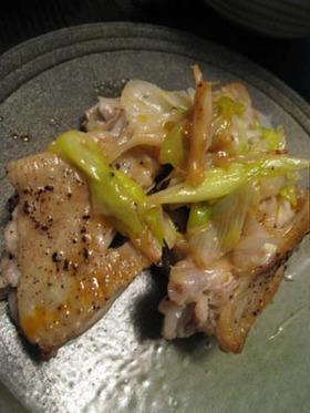 鶏と長葱の塩焼き