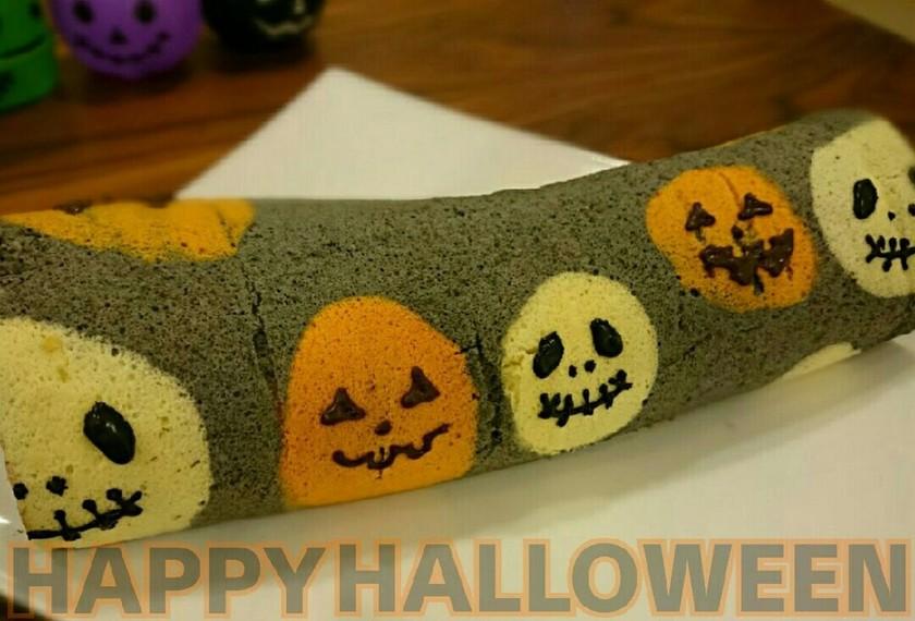 ハロウィン バナナの 簡単ロールケーキ♪