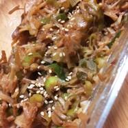 ネギとえのきの味噌炒め〜常備菜