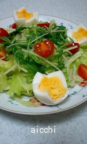 ✿お花チックなゆで卵の切り方✿