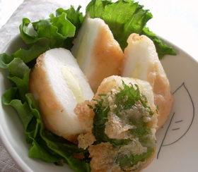 チーズはんぺんの明太子天ぷら