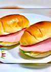 簡単朝食☆ロールパンでハムチーズサンド