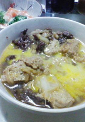 活力なべで凍らせ豆腐のすき焼き風