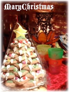 サクサククッキーdeクリスマスツリー☆