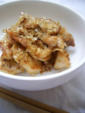 里芋と鶏のガーリックバター☆炒め