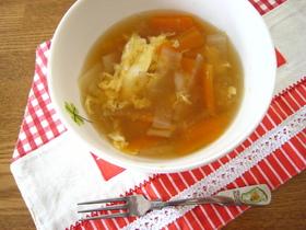 ほっとする味♥根菜と卵のスープ