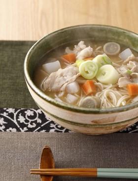 根菜の仙台味噌煮込み温麺(うーめん)