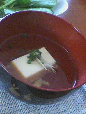 卵豆腐のおすまし