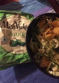 ポテチ小袋で簡単サラダ