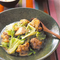 キャベツと鶏肉のごま煮