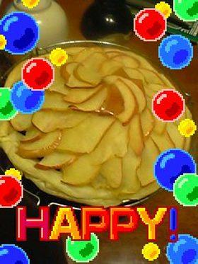 サツマイモと林檎のパイ