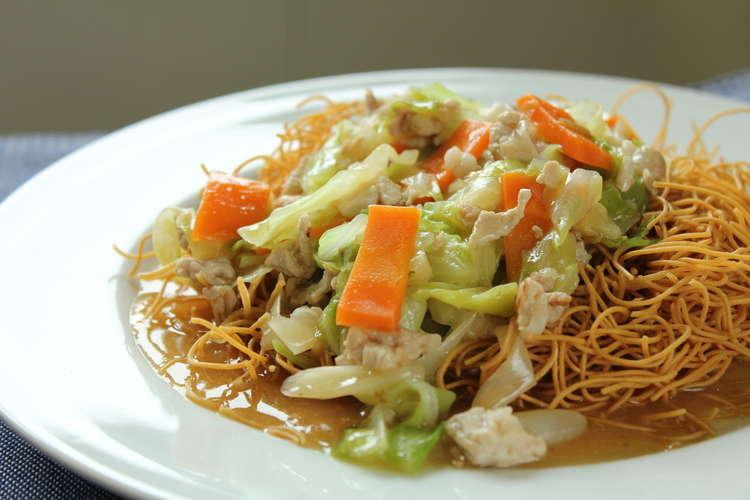 キャベツ あんかけ 焼きそば 具だくさん!あんかけ野菜炒め レシピ・作り方