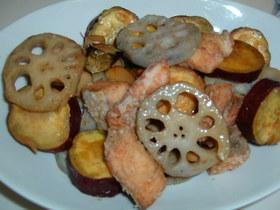 鮭と野菜の揚げ漬け