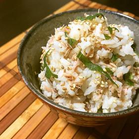 簡単!ツナと青しそと生姜の混ぜご飯