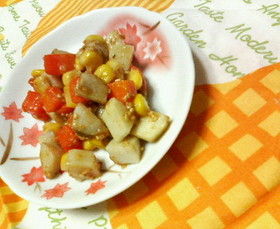 ✿里芋とにんじんの❀ゴマ味噌✿和え♪♪
