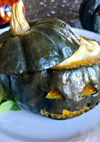 ハロウィンにぴったり!かぼちゃの肉詰め!