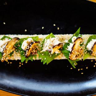 大葉とご飯と豆腐とキノコのディップVEGESUSHI