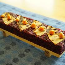 焼き筍と焦がしフキ味噌のVEGESUSHI