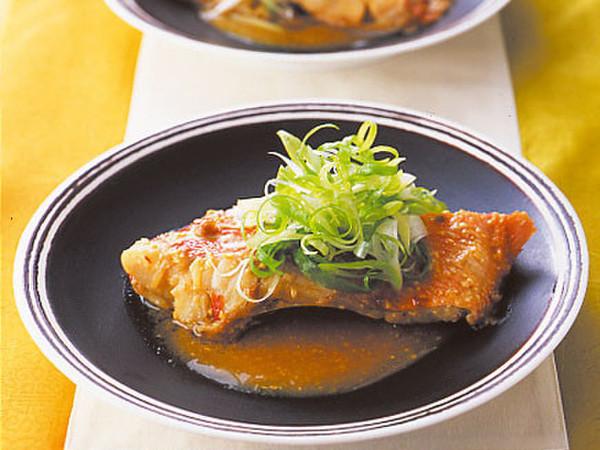 きんめ鯛のピリ辛みそ煮