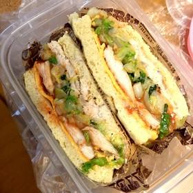 低糖質♡おからパンのサンドイッチ