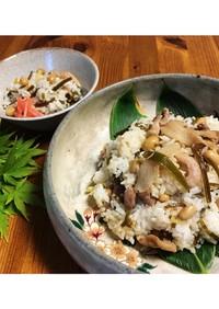 沖縄風。豚コマと昆布のご飯(ジューシー)