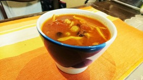 糖質オフ☆大豆と舞茸あったかスープ