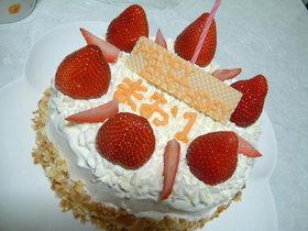 1歳の娘へ 3段のバースデーケーキ