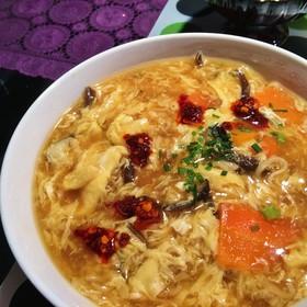 おうち中華☆サッポロ一番で酸辣湯麺