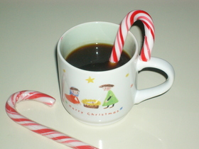★クリスマスらしいミント味コーヒー★