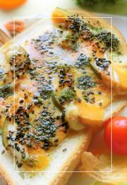 南瓜×チェダー Hotな胡麻マヨトーストの写真