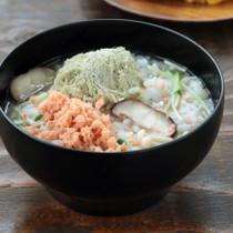 きのこと鮭の雑炊