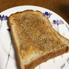 香ばしい!!ごま油トースト