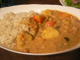 里芋とひよこ豆のとってもヘルシーカレー