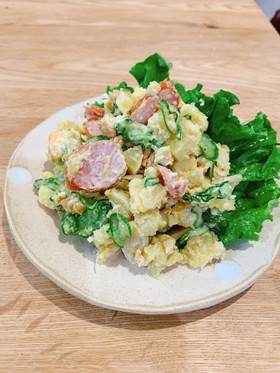 鍋不要!さつま芋と卵のサラダ