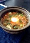 サバ缶と豆腐のチゲ風スープ☆