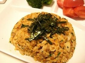 キムチ納豆卵チャーハン