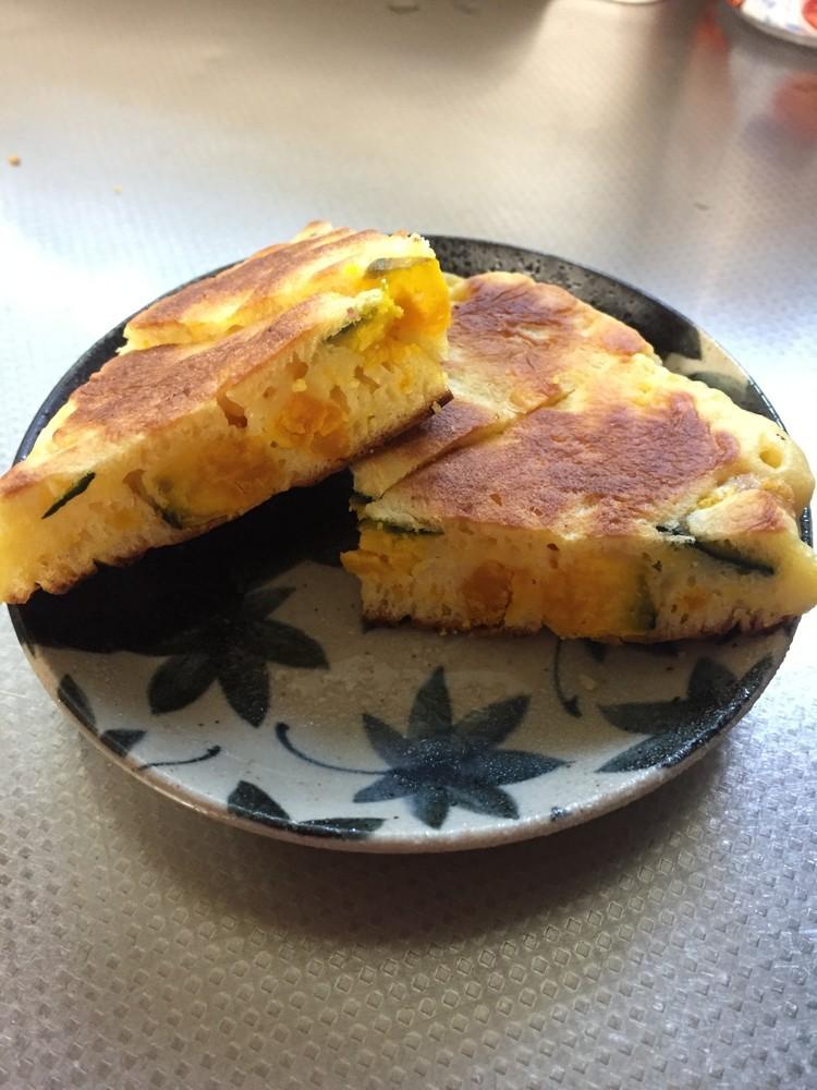 HMで作る♪南瓜のホットケーキ(^^)