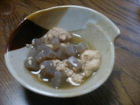 真子とコンニャクの煮物