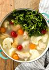 鶏とカリフラワーのトマトレモン鍋
