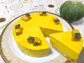【濃厚】かぼちゃのチーズケーキ♪